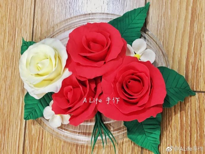 玫瑰花教程:粘土diy手工制作教程