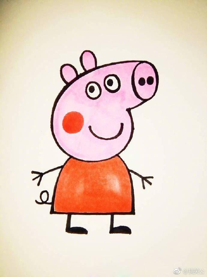 教你画一只小猪佩奇,太傻太呆萌,留着教小朋友! .图片
