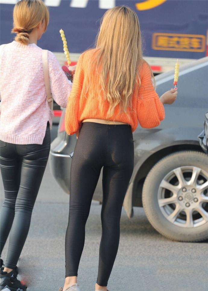 黑色紧身裤, 饱满紧实, 女人的中轴线, 男人的温柔乡