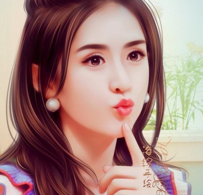 娱乐圈5位最美女星手绘照:赵丽颖第3,热巴第2,第一宛如小仙女