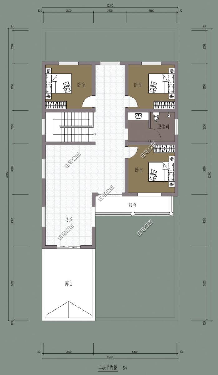 用85平方米来建自建房,怎么规划一个三层半,建一个三房一厅一卫一厨一