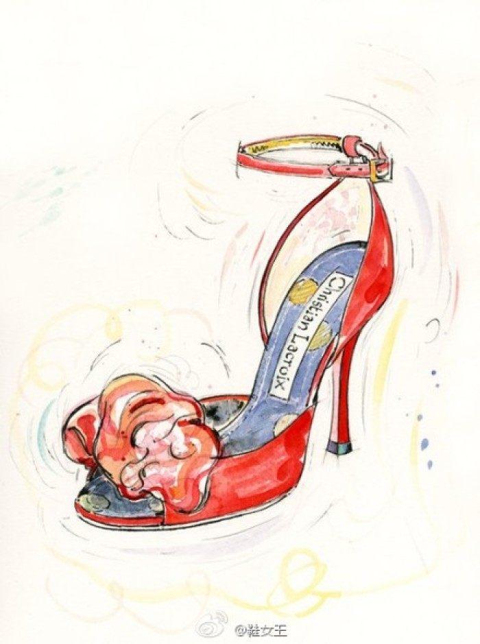 十二星座的专属手绘凉鞋, 双鱼座是芭比公主