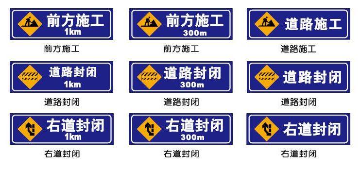 七,道路施工标志图片