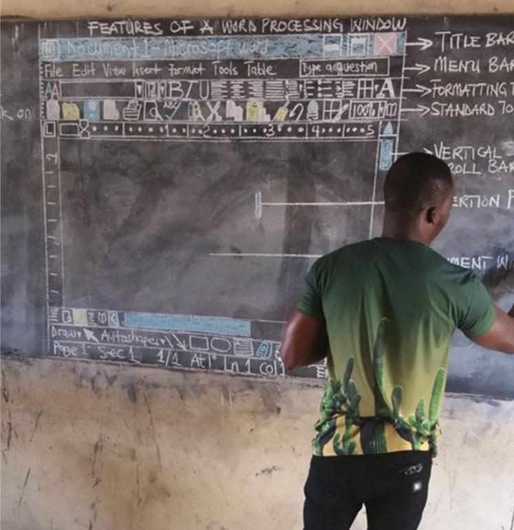 这位非洲老师手绘界面感动世人
