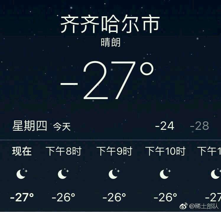 齐齐哈尔天气