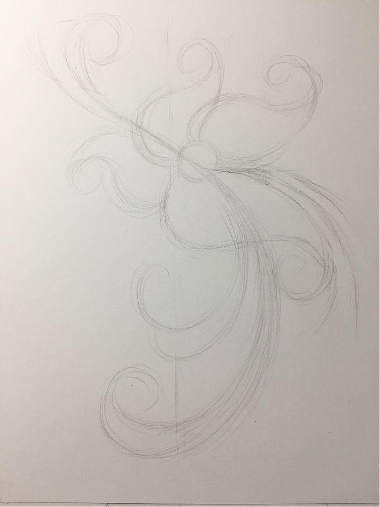 彩铅初学者练习线条,这6支凤尾花就够了,和风凤尾花绘画教程