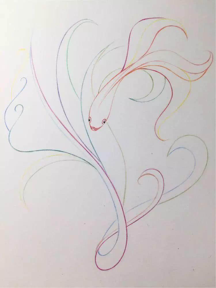 凤尾花11.0,彩铅手绘教程