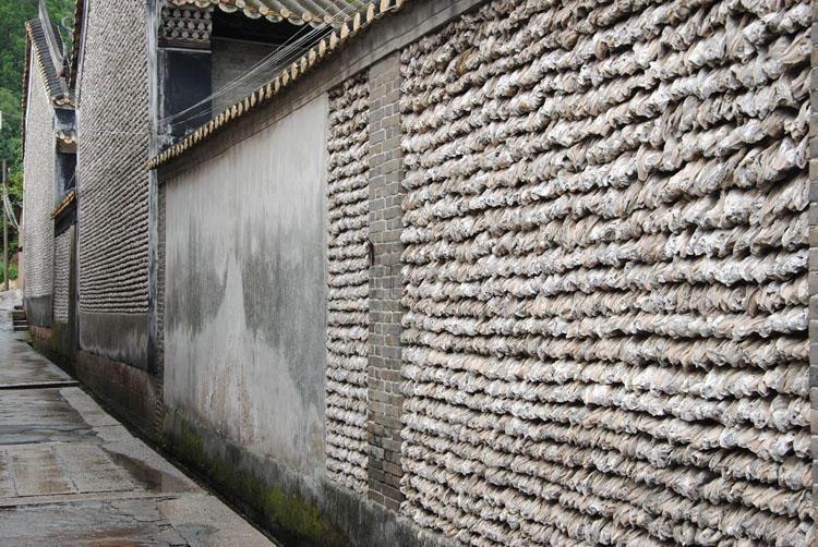 古村有一个广东,用10万只生蚝壳铺墙,历经600年仍抚顺调味品图片