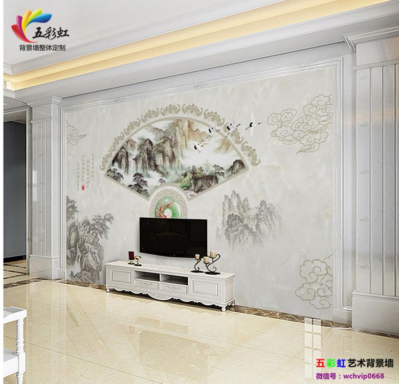 新中式电视背景墙与现代石材装修设计,一方一净土!