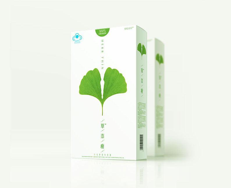 减肥瘦身品牌包装设计杂物:草本瘦v品牌案例包kt产品袋图片