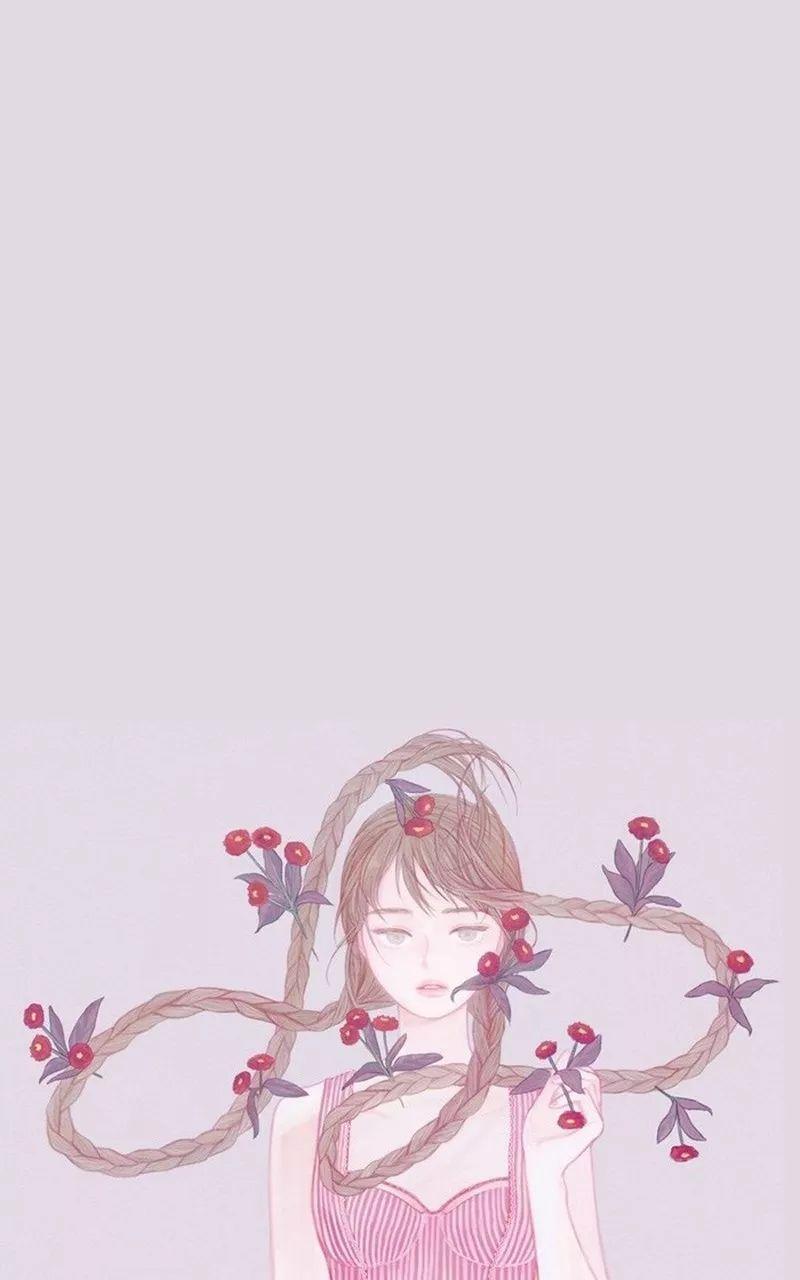 唯美手绘女生头像手机壁纸