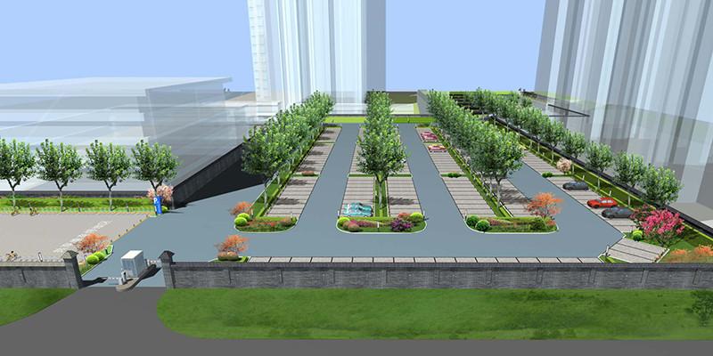 东三环边将新增万平方米绿荫共享停车场.图为效果图.图片