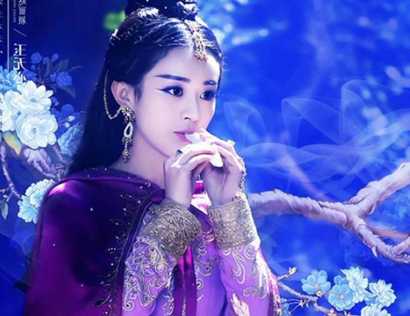古装美女吹笛子,抚琴,赵丽颖魅惑,刘诗诗可爱,只有她最美