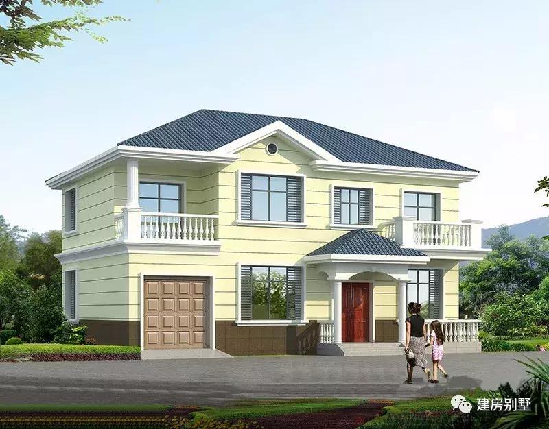 4款二层农村别墅户型, 第一款南方北方人都爱建, 后三