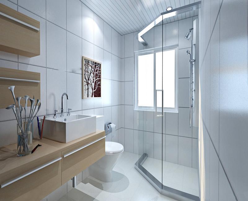 卫生间装修效果图-现代小户型1-2万卫生间装修案例精选