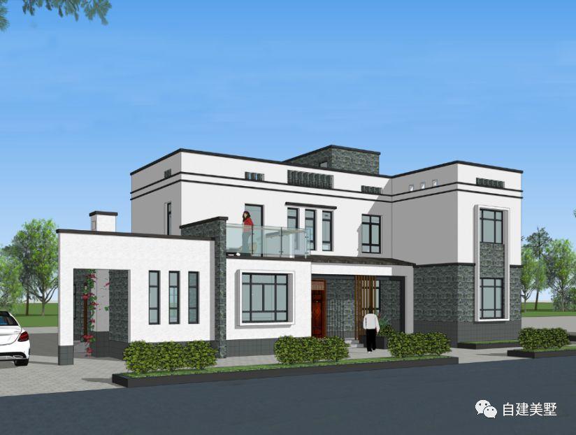 农村自建房别墅, 四款新中式建筑效果图, 带你飞!