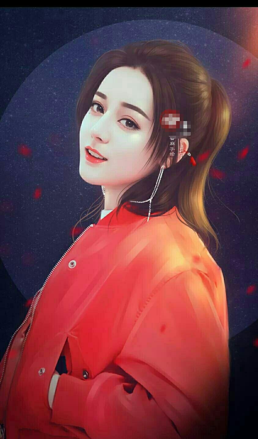 六大女星手绘图,杨颖第五,迪丽热巴第三,唐嫣第二,第一是她!