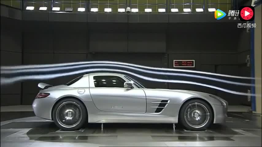 价值300万的奔驰跑车,感受一下风洞试验才知道什么叫霸气!