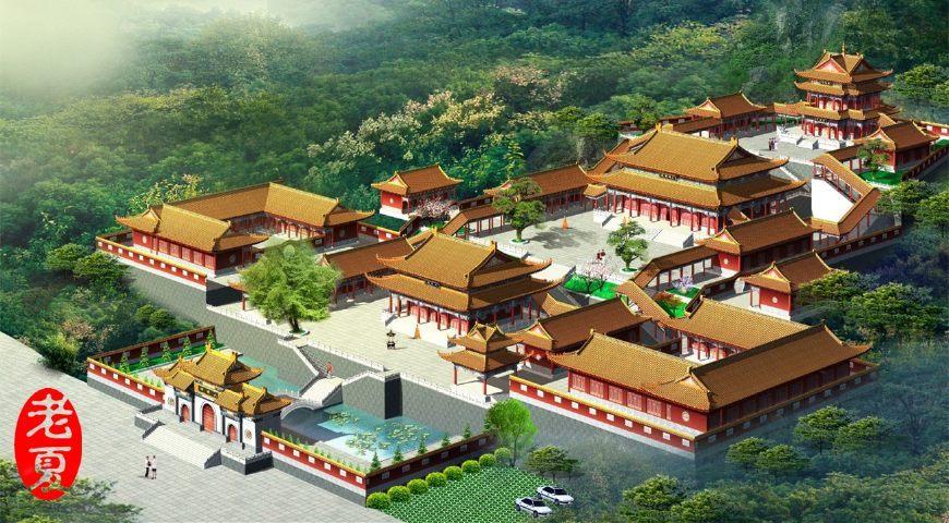 古建筑设计作品经典欣赏(寺庙设计,祠堂设计