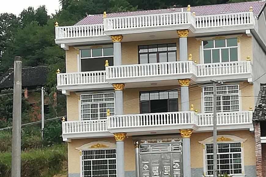 6米二层农村自建房施工图纸 新农村获奖设计房屋图纸 造价15 宽930×