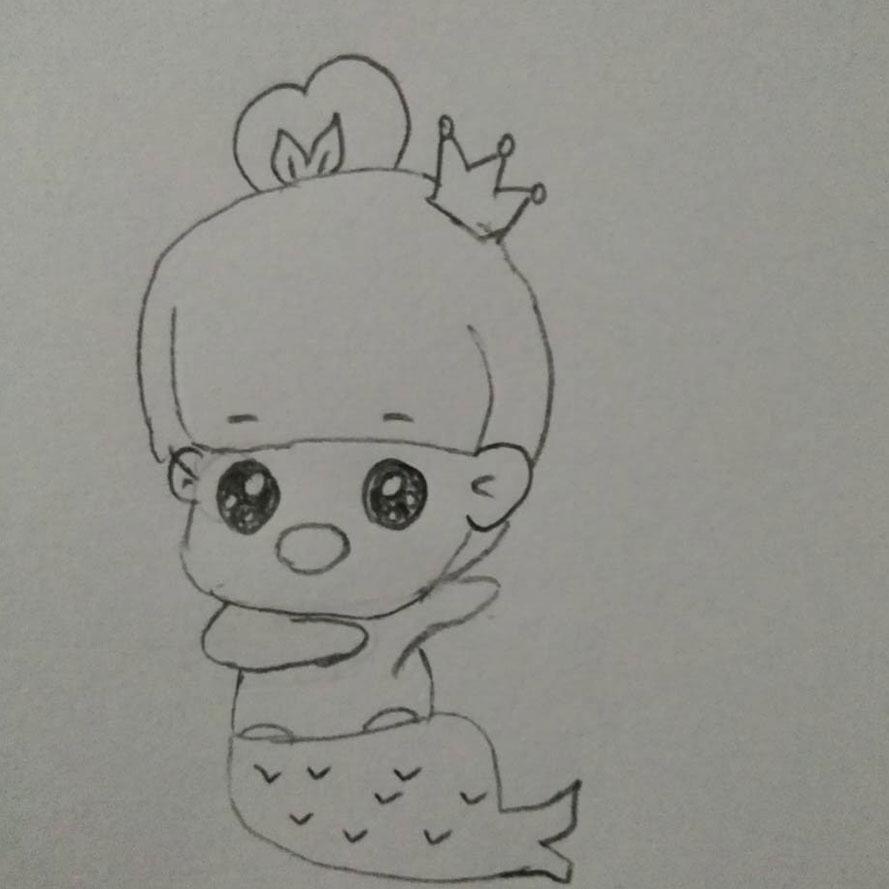 幼儿铅笔彩绘双鱼座的画法 趣味简易铅笔画星座双鱼的