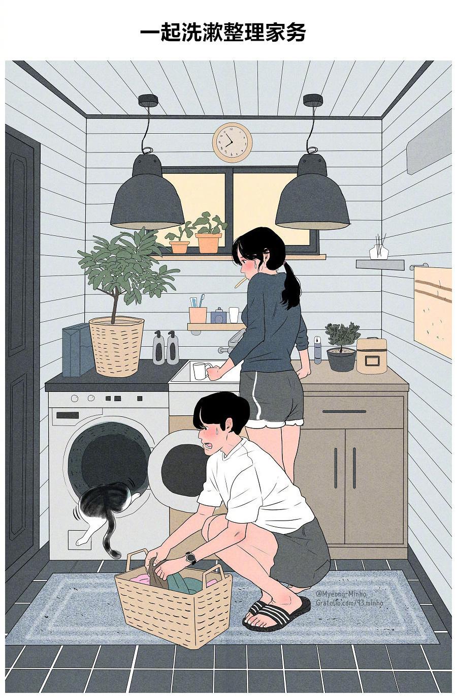 漫青春Myeong-Minho时间下一对情侣甜甜的恋机关枪画笔v青春画师漫画图片