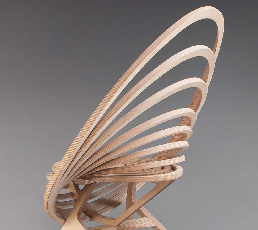 螺旋式实木椅子, 这样的创意家具做法, 太有艺术性了!图片