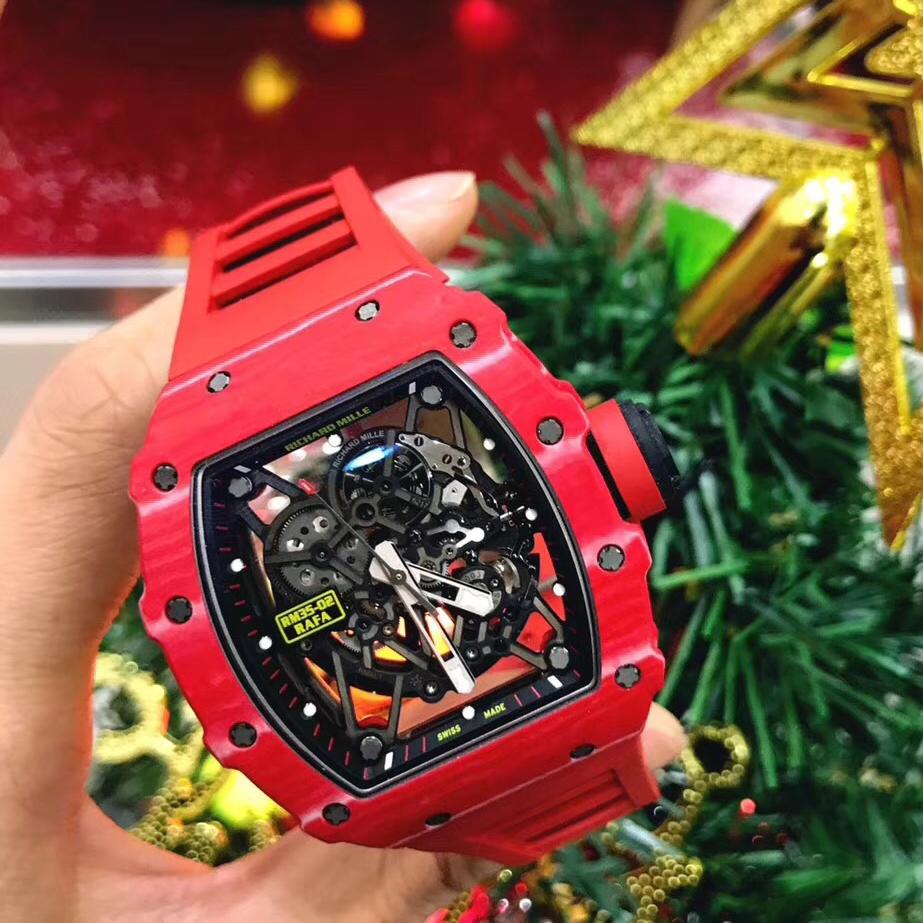 浪不浪你说了算!理查德米勒RM35-02黑色与红色机械手表