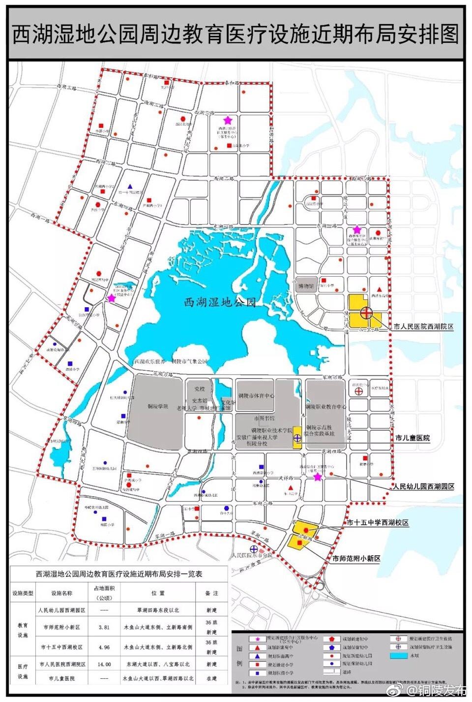 关于西湖湿地公园周边教育医疗设施近期布局安排的公告图片