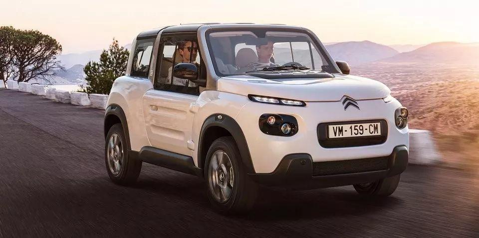 雪铁龙推出了新款e-mehari四座电动汽车,长得那叫一个萌