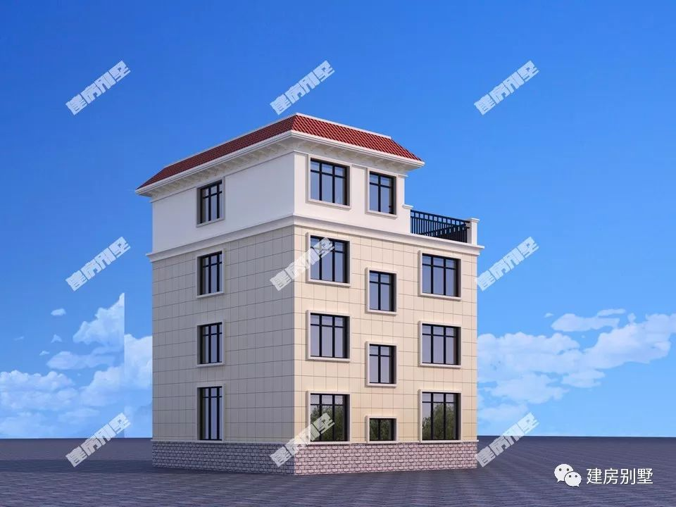 两款四层农村别墅户型,均是平顶设计,盖出了豪宅的气势
