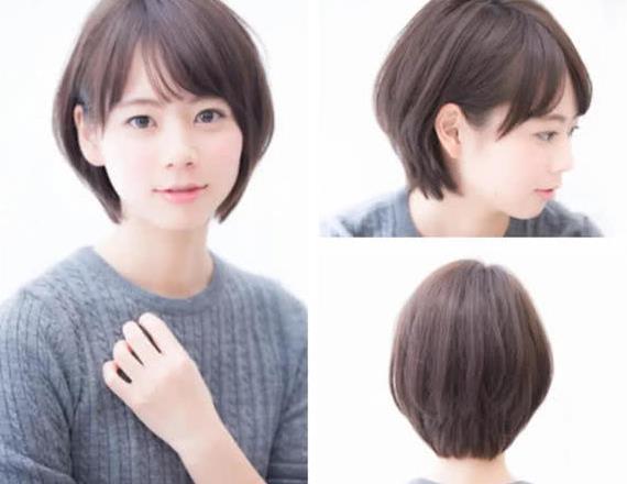 2018流行圆弧短发,圆弧短发 发尾内收,瘦脸减龄利器
