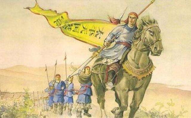 太平军大将百战百胜,却因用力过猛,被对方战马拖死而图片