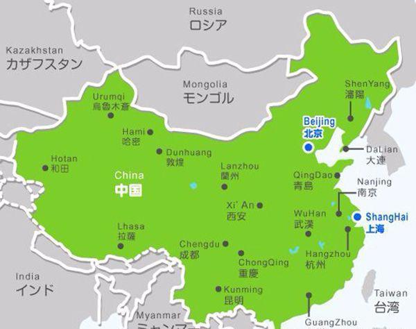 世界各国的中国地图, 来看看老外都标注了哪些中国城市?