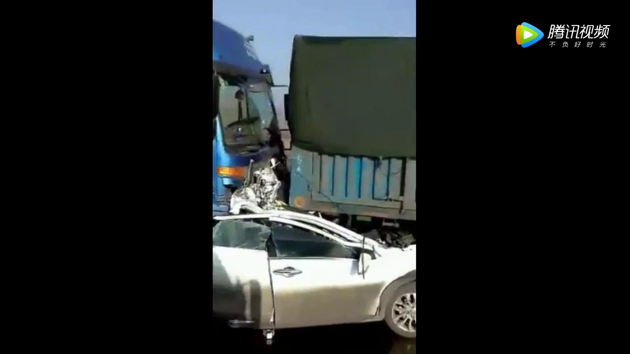 痛心!自驾游紧跟在大货车后面,因前车急刹车一家三口全部遇难!