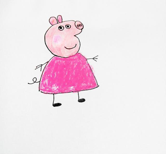 幼儿创意简笔画 小猪佩奇,一点都不难哦