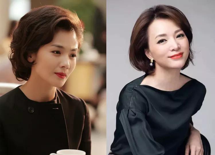 刘涛在换了新发型之后,像是个新闻联播主持人,竟比董卿还要美!图片
