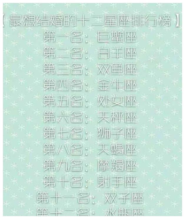 最想v处女的十二星座排行榜:第二名是巨蟹座,第一名是白羊座!处女座星座速配图片