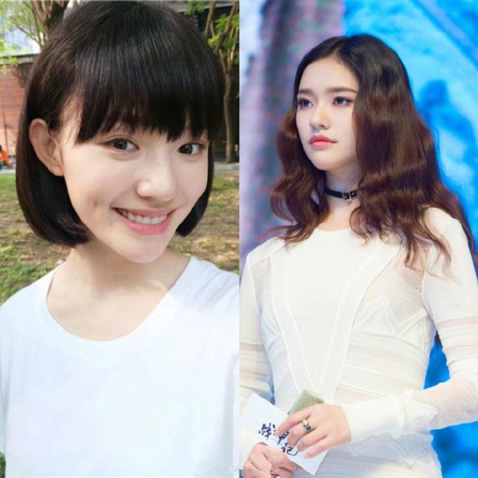 马蓉剪了短发变化大,造型小清新超减龄,对镜头卖萌像个小女生