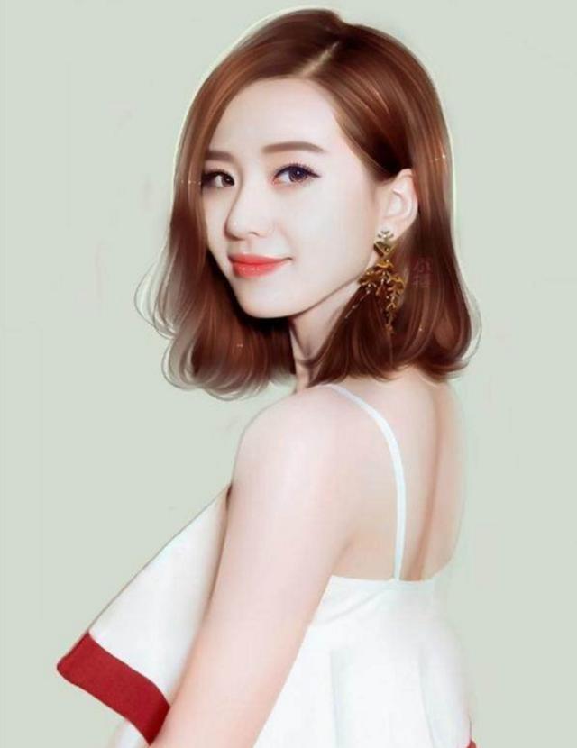 众女星手绘版, 赵丽颖热巴古装美得惊艳, baby李沁只活在现代?