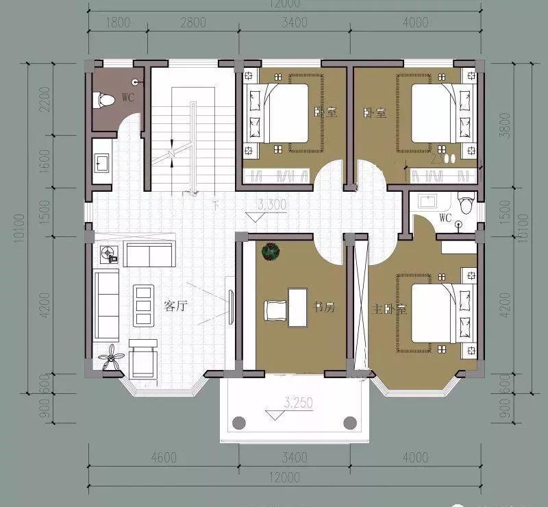 一层平面图:设置有堂屋,餐厅,厨房,卧室,客厅,卫生间,储存室可存放图片