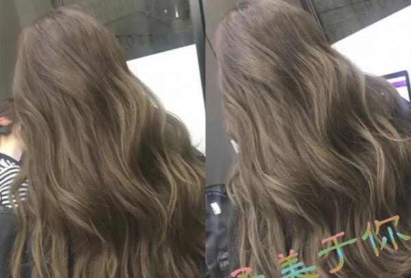 """栗棕色染发搭配上空气感十足的大卷长发是现在很火的""""网红发型"""",浅浅图片"""