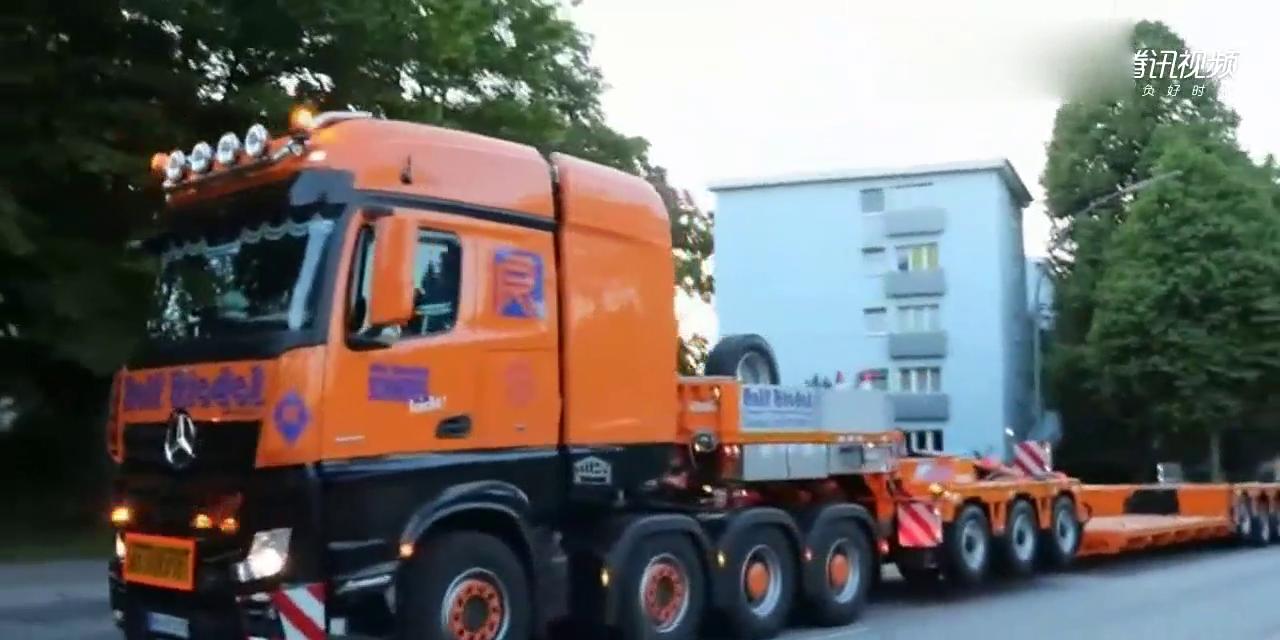 世界上最大的拖车,车身全长二十米共有二十个轮胎,高速不能走