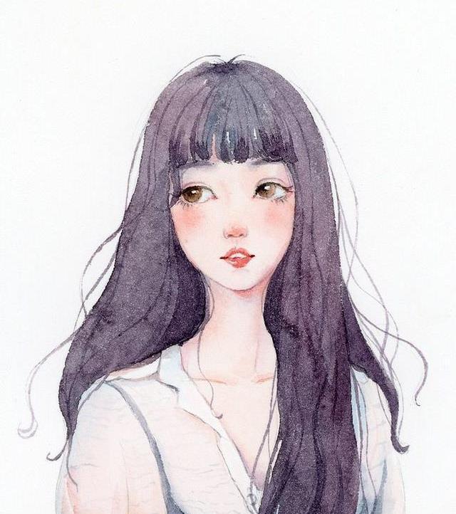 美女美女图插画,古风,现代欧美二高新安图片