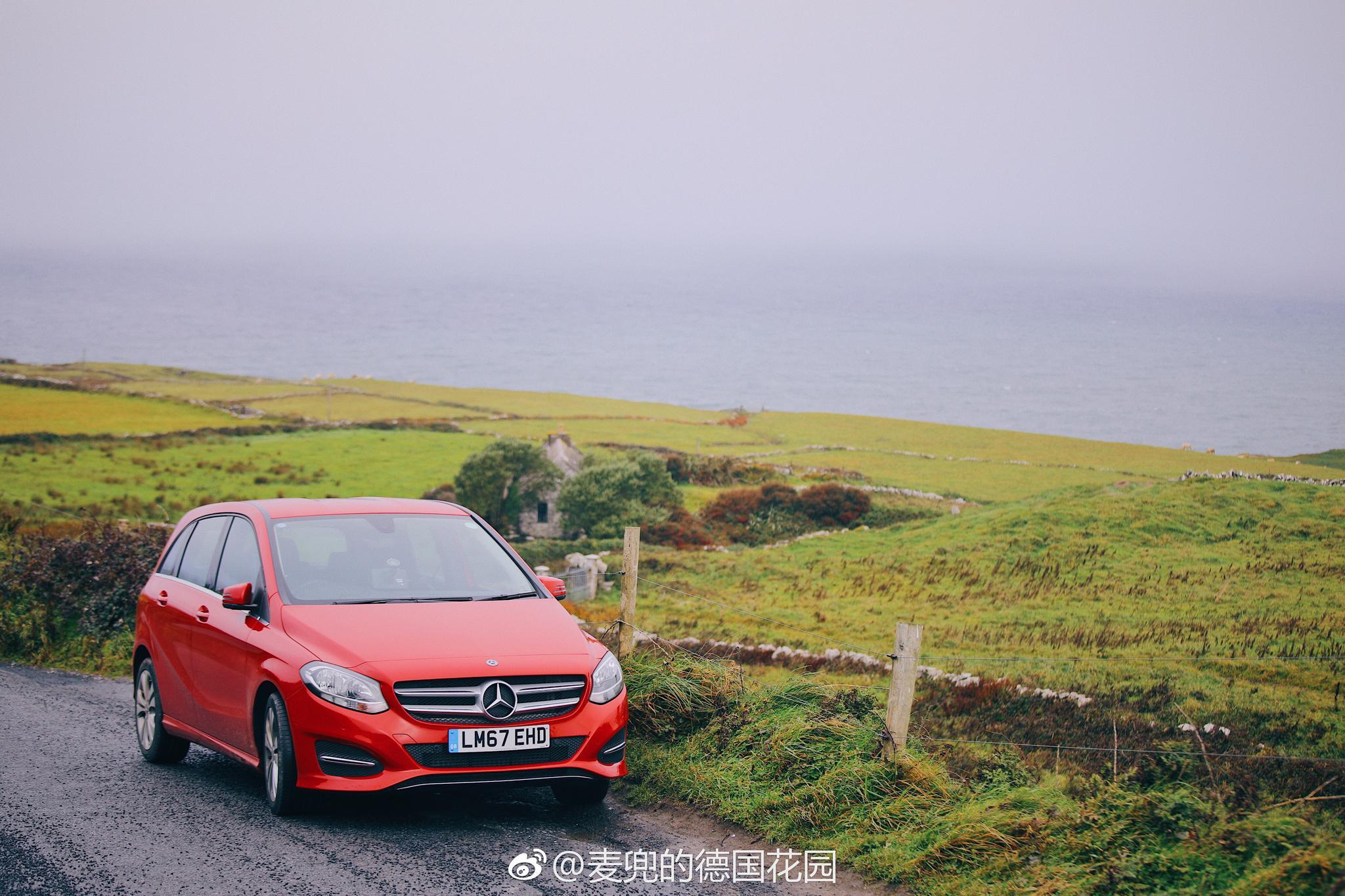 爱尔兰雨水充沛,尤其是狂野大西洋一路都是雾气缭绕