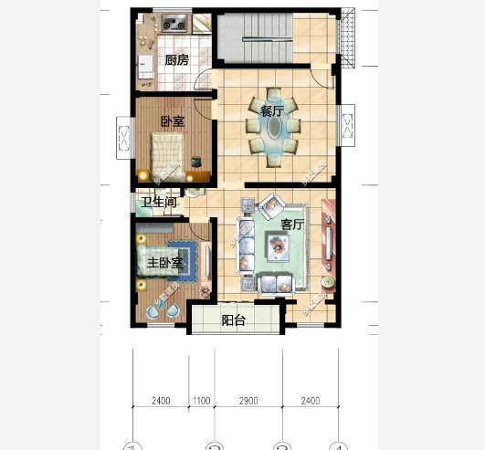 9x13米,五层农村自建房,一楼门面,一层一户,应该怎样设计图片