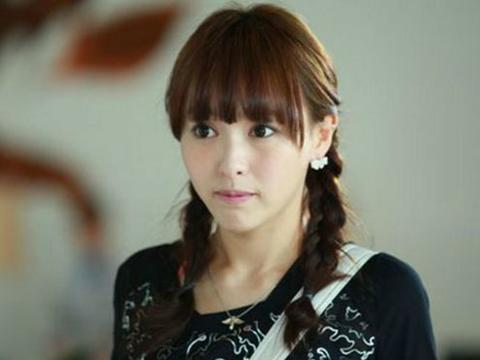 杨颖齐刘海新发型图片展示图片