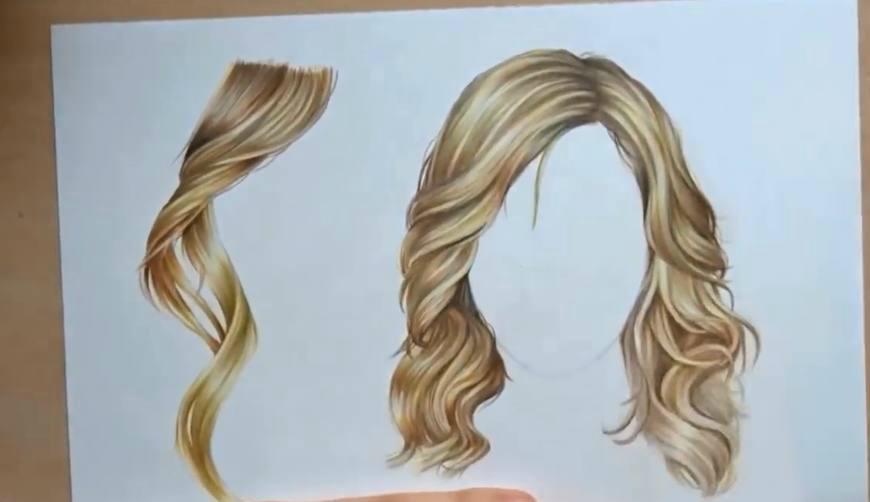 牛人用彩铅手画的女士发型,真跟照出来一样_新浪看点图片