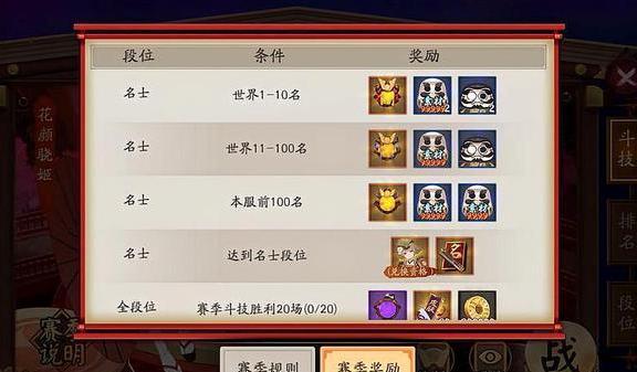斗技排行_阴阳师:斗技赛再临,斗技时间的安排以及快速上分阵容推荐