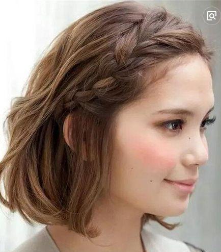超级实用又好看的短发编发教程,短发的妹子也是可以多